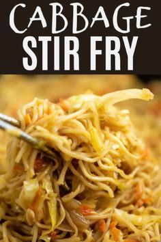 My favorite cabbage recipe! This ramen noodle stir fry with cabbage is so delicious and easy to make! A yummy dinner and the BEST topped with sweet chili sauce! Ramen Noodle Cabbage Stir Fry Recipe - Build Your Bite Build Your Bite buildyourbite Stir Fry Recipes, Vegetable Recipes, Vegetarian Recipes, Cooking Recipes, Healthy Recipes, Top Ramen Recipes, Fried Cabbage Recipes, Ramen Noodles Recipes Easy, Cooking Tips