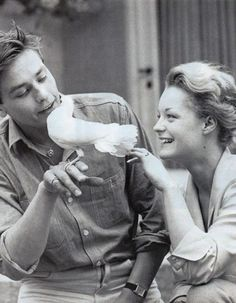 Alain Delon and Romy Scneider, 1959, in love viaculturapoprigo