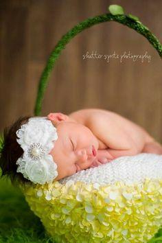 Infant photography - interesting baskets
