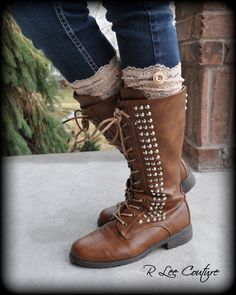 Lace Boot Cuffs - Faux Lace Boot Socks - Faux Lace Leg Warmers - Lace Boot Topper - Boot Topper - Faux Knee High Sock - Womens on Etsy, $14.95