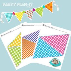 Pennant Banners Are Easy To Make With Downloadable Templates From
