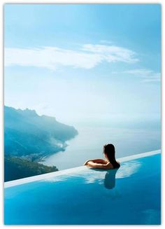 Infinity pool of Ravello Hotel, Caruso, Italy. Wow.