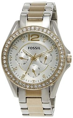 Fossil Women's ES3204 Riley Silver and Gold Tone Watch Fossil http://www.amazon.com/dp/B009BEO9DU/ref=cm_sw_r_pi_dp_IJmHub1MJJV1F