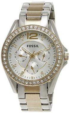 Fossil Women's ES3204 Riley Silver and Gold Tone Watch Fossil http://www.amazon.com/dp/B009BEO9DU/ref=cm_sw_r_pi_dp_IJmHub1MJJV1F