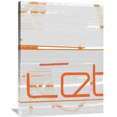 Naxart 'Let' Painting Print on Wrapped Canvas Size: