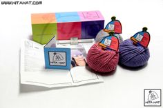D.I.Y. Kit Hita Hat: enjoy yourself creating your own #HitaHat #beanie! Choose the #model, choose the #colours, choose your #style! The #DIY box kit includes the necessary balls of yarn, the #crochet hook size 6mm, the #label to put on the finished #hat, the #brochure with #explanations and diagrams. For further information: www.hitahat.com