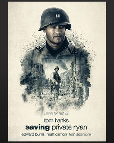 Saving Private Ryan x - Shoe Tutorial and Ideas Action Movie Poster, Movie Poster Art, Action Movies, Cinema Posters, Film Posters, Comic Movies, Good Movies, Matt Damon Movies, Saving Private Ryan