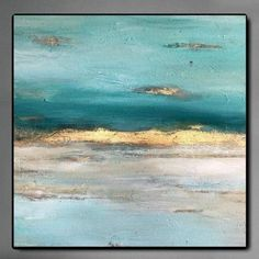 Oversize Canvas Sunset Painting Acrylic Ocean Wall Art Turquoise Oil Canvas Fine Art Wall Decor | SUNSET OVERDRIVE Sunset Overdrive, Oversized Canvas Art, Big Wall Art, Turquoise Painting, Abstract Art, Abstract Paintings, Texture Art, Beautiful Paintings, Modern Interior