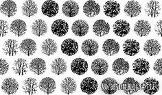 Baummusterungen  #pattern #trees #silhouettes