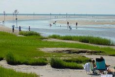 Visit the flats at low tide or watch the sunset at Rock harbor in Orleans, Cape Cod.