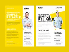 Download Corporate Flyer Template in just $6 only. Full Preview on behance