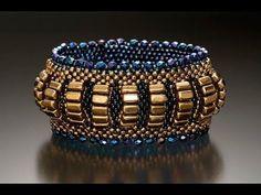 #МК - Браслет из бисера и граненых бусин | #Tutorial - Beaded bracelet and beads - YouTube