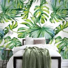 Fashion Garden Wallpaper: Nature Wallpaper for Walls Green Leaf Wallpaper, Garden Wallpaper, Forest Wallpaper, Home Wallpaper, Custom Wallpaper, Nature Wallpaper, Wallpaper Murals, Leaves Wallpaper, Tropical Wallpaper
