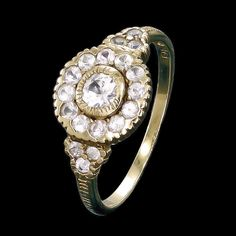 Zoe and Morgan white sapphire cluster ring.