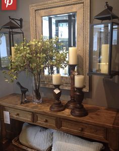 Love the hanging lanterns! 52 Perfect Interior Design To Rock This Season – Entry Table! Love the hanging lanterns! Style At Home, Deco Champetre, Hanging Lanterns, Small Lanterns, Window Hanging, Candle Lanterns, Home And Deco, Home Fashion, Fashion News