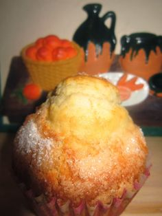 Magdalenas de naranja y nata