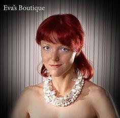 Rich large bridal 5 strand statement necklace by evarugina