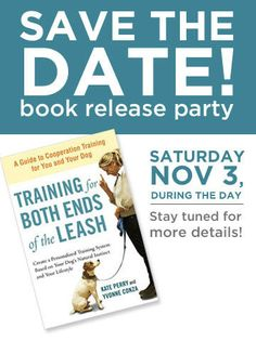 Save the date! @Kate Perry is having a launch party for her book at Petco in Union Square (#NYC) on November 3rd!  #dogs #puppies #dogtraining