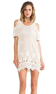 Lovers + Friends Weekend Tunic in Natural Lace | REVOLVE