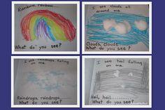 Rainbow in Early Literacy, kindergarten, preschool, Bill Martin, Eric Carle, spring, weather for preschool