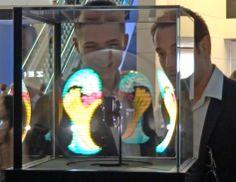 sphere display is still hypnotic. Display, Floor Space, Billboard