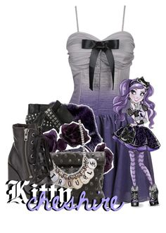 """""""Kitty Cheshire from Ever After High"""" by magykgirlz ❤ liked on Polyvore featuring Forever 21, Loewe, Karl Lagerfeld, Marie Turnor and Ash"""