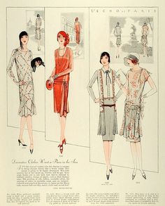 Mccall's 1928 pattern find historical fashions vintage patterns at www. Mode Vintage, Vintage Vogue, Retro Vintage, Vintage Fashion, 20s Fashion, Art Deco Fashion, Fashion History, Historical Costume, Historical Clothing