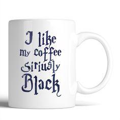 Harry Potter I Like My Coffee Siriusly Black 11oz Mug