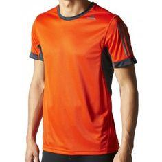 Adidas Supernova Short Sleeve Mens Running Top - Orange Mens Running Tops e3b9409c2