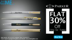 Exclusive Engraved Parker Pens at 30% off for limited time @ www.printmegiftme.com