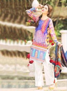 Daily Wear Purple Printed Pakistani Suit