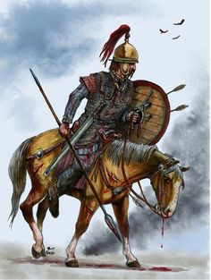 Gaul or Celt noble horseman.