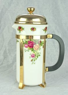 Royal Albert Old Country Roses Large Cafetiere 900ml 1.5 Pint 1st Quality VGC