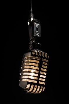 Hanging Retro Microphone Lamp by MicrophoneMania on Etsy