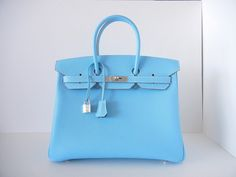 35 CM Hermès Birkin Epsom leather celeste Ltd Ed Candy serie -  BID Till U DROP on www.ubidfashion.com