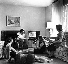 Televisie - in het begin uitzendingen in zwart-wit
