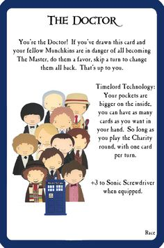 Munchkin Custom Card Project #3: Munchkin Doctor Who 2 « My Life as a Geek