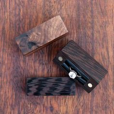 Ring boxes made from walnut wenge and walnut burl . . . . . #engagement #ring #box #wedding #engaged #engagementring #diamond #proposal #weddings #marriage #jewelry #fiance #beautiful #weddingring #diamondring #anniversary #bling #weddingplanning #woodworking #wood #handmade #woodwork #design #walnut #handcrafted #etsy #etsyshop #crafts #gift #thenorthernforest