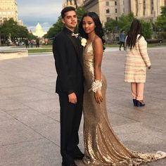 Gold Sequin Long Prom Dresses 2018 Mermaid V-Neck Open Back African Sexy, 6661492 Grad Dresses Long, Sequin Prom Dresses, Prom Dresses 2018, Graduation Dresses, Formal Dresses, Prom Photos, Prom Pictures, Cream Wedding Dresses, Bff