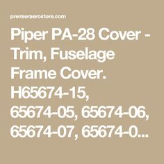 60 Best Piper PA-28-140 Interior Parts images in 2017