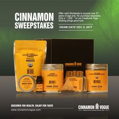 It's back. Our final Cinnamon Sweepstakes on Facebook. This is a $78 value represented by our Tuscany gift box. Comes in our beautiful new gift box. The draw date is Dec 5, 2017. Just in time for Christmas. So simple to enter. It's our way of saying Thank you for all your support.