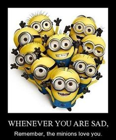 We have been collecting some of the most funniest and best minions quotes and funny pics, same is here . Some of the most hilarious minions pictures with captions ALSO READ: Banana Minions ALSO READ: 30 Best Funny Animal Memes of all times Amor Minions, Minions Love, My Minion, Minions Quotes, Minions Minions, Minion Sayings, Happy Minions, Happy Birthday Minions, Minion Doll