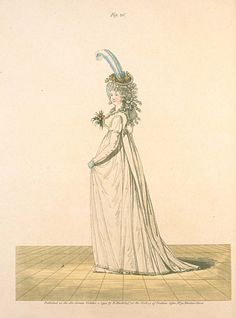 8-11-11 Gallery of Fashion, October 1794.  Afternoon or Half Dress