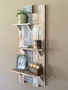 Barn Wood Wall Shelf / Distressed White Antique by TheBarnLadder