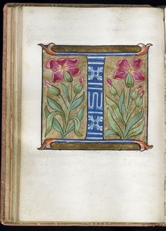 """I"" Leaf from Alphabet Book 