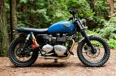 When @marcus.wallen asked us to build him a #motorcycle his story supplied all the inspiration we needed. The #Woodsman is the first custom build by @bloodbrothersinc . A blend of grit and grace this #custom #scrambler is built to handle the rigors of a working #farm while preserving the iconic #beauty the #Bonneville is known for.  #triumph #california #sweden #forest #axe