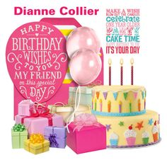 """""""Happy Birthday Dianne 💞"""" by nightowl59 ❤ liked on Polyvore featuring art"""