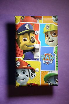 Paw Patrol Marshall Rubble Chase Light Switch Cover boys girls kids room decor