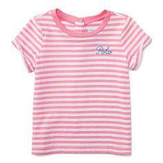Striped Cotton Tee - Baby Girl Tops & Bodysuits - RalphLauren.com