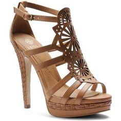 Women's Isola Delanna Leather Platform Heels Brown 8